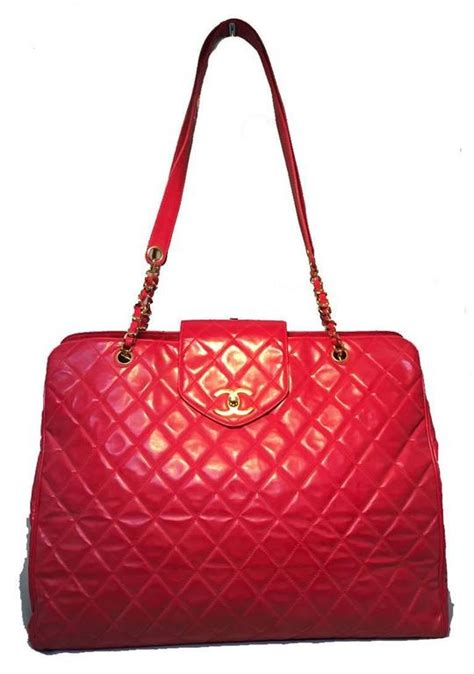 Quilted Travel Bag by Chanel Quilted Pvc Model Overnight Tote Travel Bag For