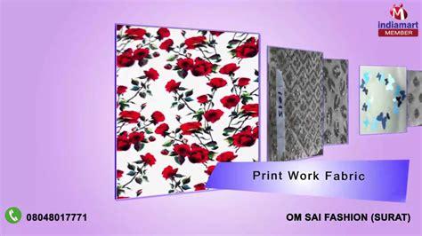 printable fabric youtube glitter net and flock print fabric by om sai fashion