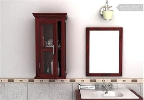 bathroom cabinets india buy wooden bathroom cabinets online only at wooden street