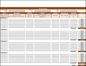 Bill Of Materials Template by 8 Plus Bill Of Materials Exles And Sles