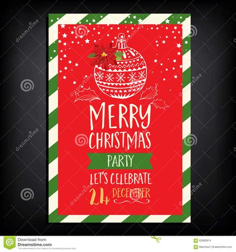 layout for christmas party christmas party invitation restaurant food flyer stock