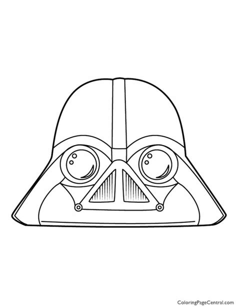 angry birds star wars coloring pages darth vader angry birds star wars darth vader 01 coloring page