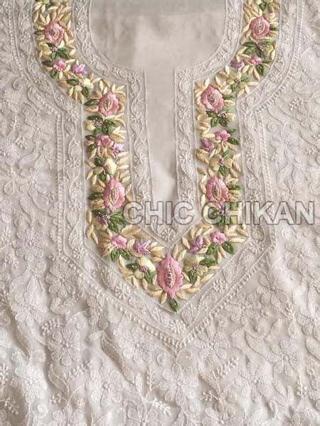 embroidery unstitched design chikan embroidered unstitched suit suppliers in haryana