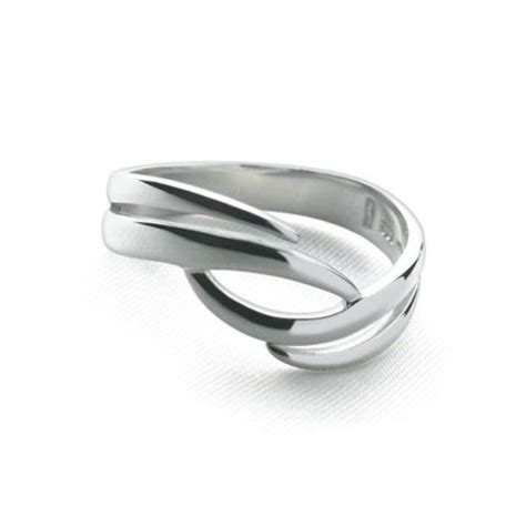 feathered ring silver rings silver by mail website