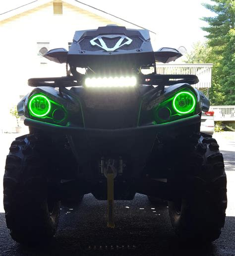 can am halo lights can am outlander l halos rings lights set 2 angel eyes