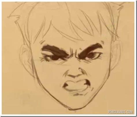 adding expression how to draw eyebrows step by step how to draw a furious face without getting angry
