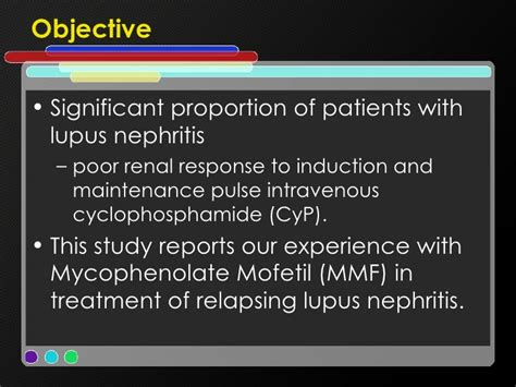 induction report sle mycophenolate mofetil in relapsing lupus nephritis