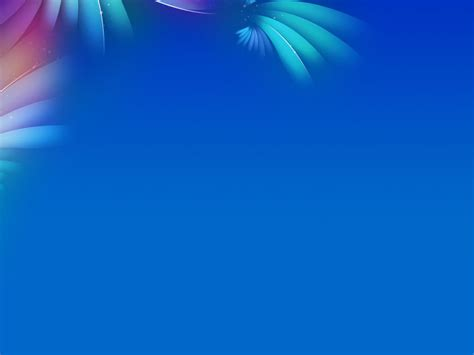 flower blue patterns ppt backgrounds for powerpoint