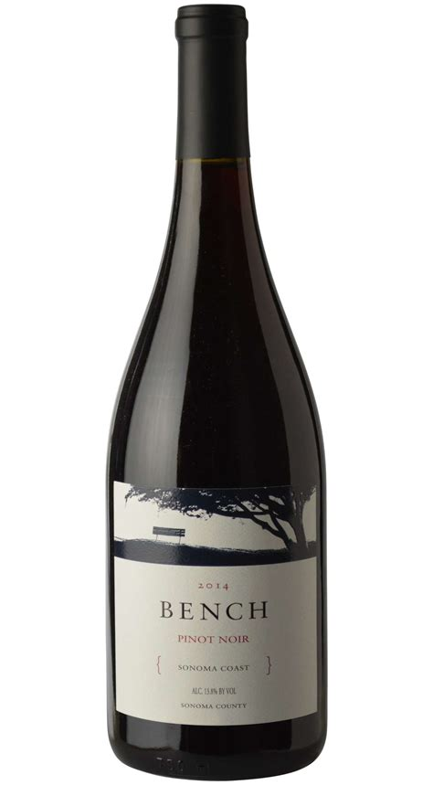 bench winery sonoma bench sonoma coast pinot noir 2014