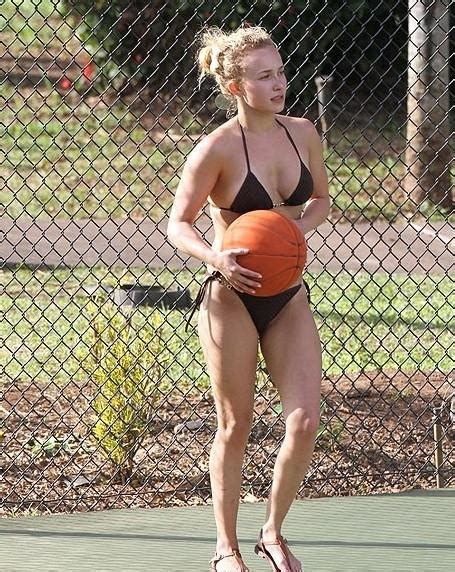cialis commercial actress tennis hayden panettiere bikini actress plays tennis with nfl s