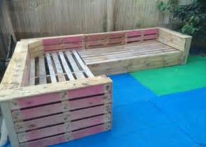 Spring Cushion Sofa Diy Pallet Patio Or Garden Corner Sofa 99 Pallets