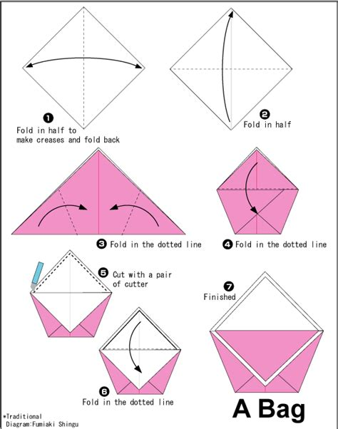 How To Make A Paper Backpack - origami bag for bulk in pinata birthday