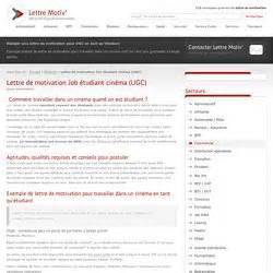 Modã Les Lettre De Motivation ã Tudiant Cover Letter Exle Lettre De Motivation Gratuit 233 Tudiant