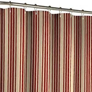 Stripe fabric shower curtain burgundy red shower curtains fabric