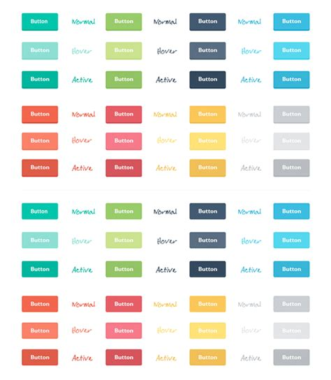 Ui Pattern Buttons | 118 flat design buttons elements ui kits for graphic