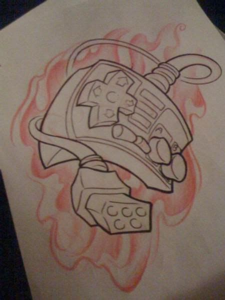 nintendo sleeve tattoo designs original nintendo controller sketch ideas