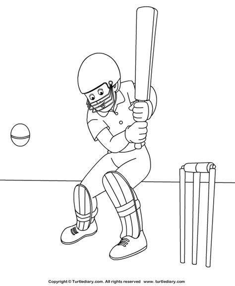 Cricket Colouring Pages Cricket Coloring Sheet Turtle Diary by Cricket Colouring Pages
