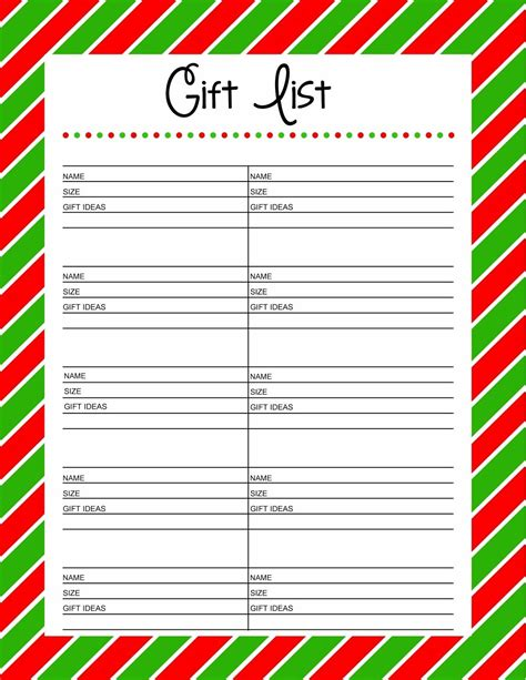 gift exchange list template gift exchange wish list template best template idea