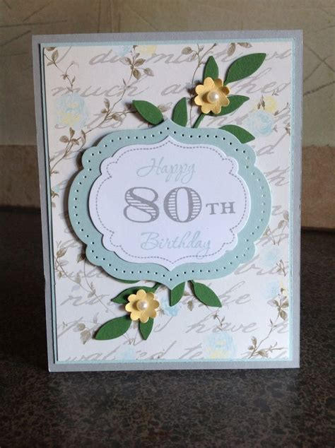 Handmade 80th Birthday Card Ideas - 80th birthday card card ideas gifts