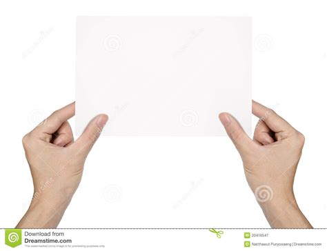 How To Make Paper Holding - holding blank paper isolated royalty free stock