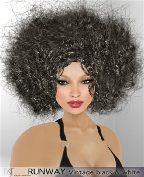 vintage hairstyles afro hair second life marketplace tuty s runway afro hairstyle