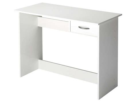 bureau blanc tiroir bureau 1 tiroir alpin coloris blanc vente de bureau