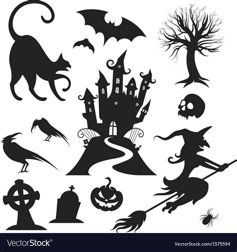 design elements for loading in vector from stock 25 eps halloween design elements royalty free vector image