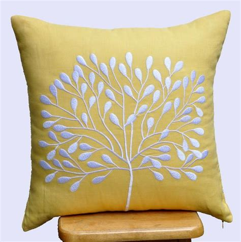 throw pillow covers etsy yellow decorative pillow cover throw pillow cover 18 x 18