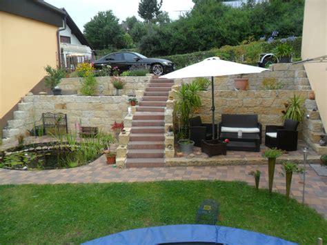terrasse und teich in den hang gebaut userprojekte - Terrasse Hang