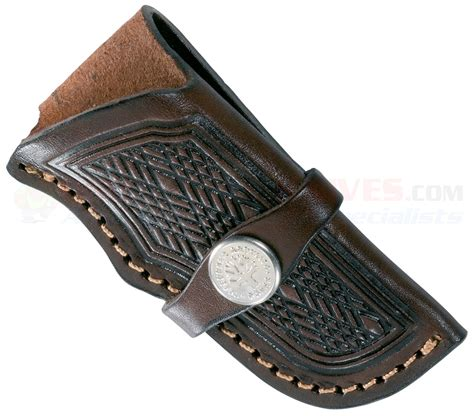 leather knife pouches or sheaths boker 090035 leather holster style sheath for large pocket