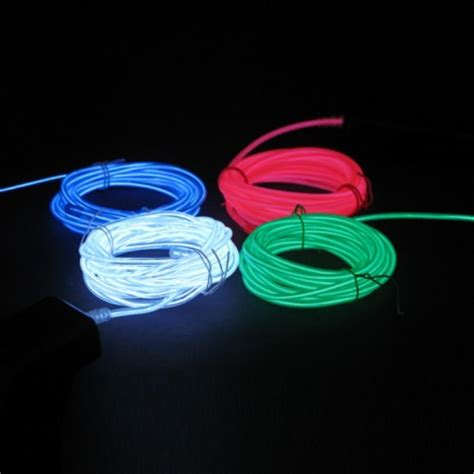 Electroluminescent L by El Wire Glow Wire