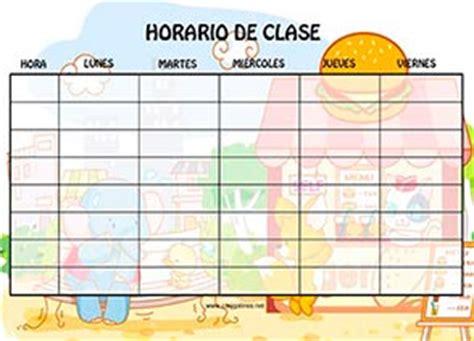 horario de clases para imprimir horarios para clase imprimir de hamburgueseria en el