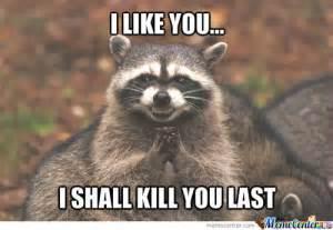 Evil Raccoon Meme - evil raccoon by thatguyxlr meme center