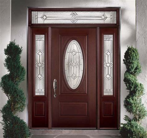 front door with oval window belleville mahogany textured 2 panel hollister door 3 4