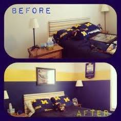 michigan bedroom university of michigan themed bedroom google search