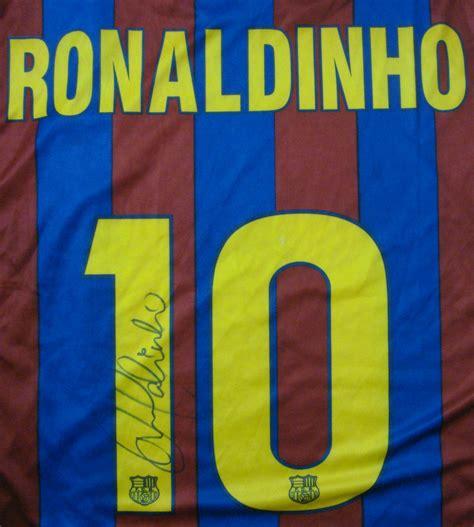Jersey Baseball Barcelona ronaldinho autographed jersey
