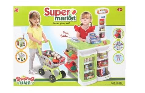 Trolley Mainan Anak Supermarket Set Spesial supermarket shopping trolley kitchen play set price review and buy in uae dubai abu