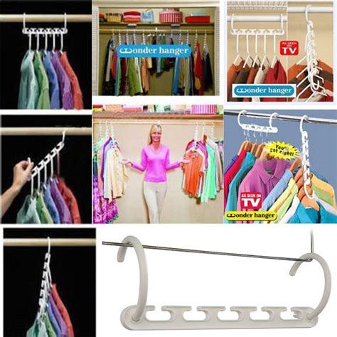 Magic Hanger Clothes Organiser Isi 8 Gantungan Baju Hemat Ruang space saver magic clothes hangers closet organizer hooks racks useful new in laundry