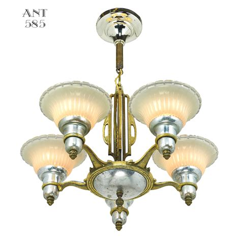deco light fixtures deco streamline chandelier 5 arm light fixture by mid