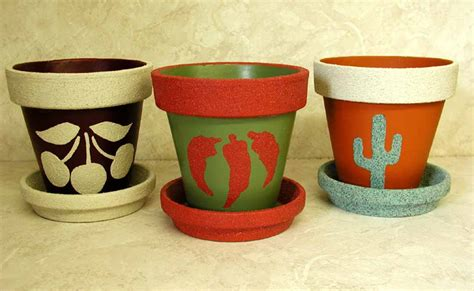 How To Decorate Pot At Home by Clay Pots Yard And Garden Handpainted Lee Wismer