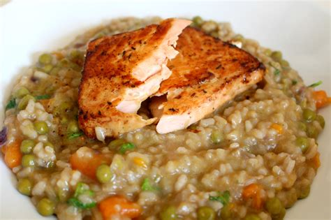 salmon and risotto fresh salmon risotto loepsie