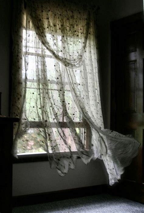 wind blowing curtains open window cool breeze dream cottage farm pinterest
