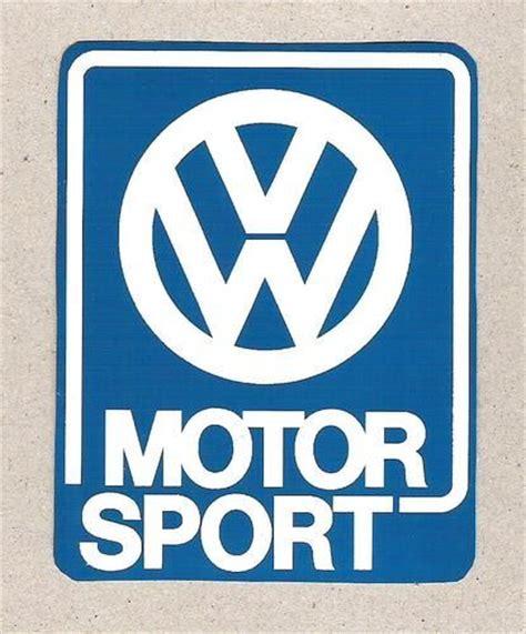 Retro Motorsport Aufkleber by Vw Volkswagen Motorsport Sticker Blue W White Vintage