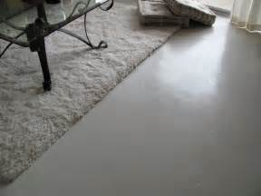 inside house painting concrete floor with white color look