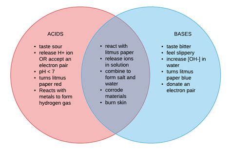 acid diagram how to design a venn diagram for acid and bases what are