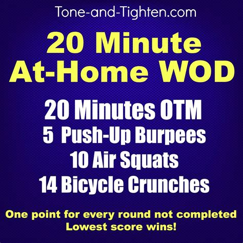 20 minute at home wod tone and tighten