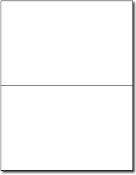 Half Fold Greeting Cards 80lb White Desktopsupplies Com Blank Birthday Card Template 2