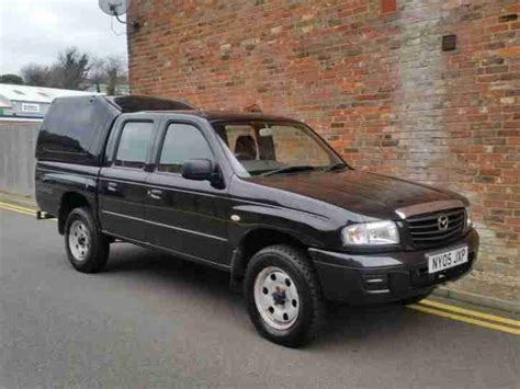 mazda 2005 b2500 4x4 cab turbo diesel up black