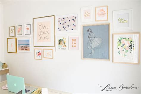 gallery wall how to home makeover how to build a gallery wall lauren conrad