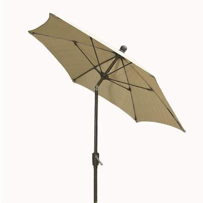 Fiberbuilt Umbrellas 9 Ft Patio Umbrella In Beige 9hcrcb Home Depot Patio Umbrella